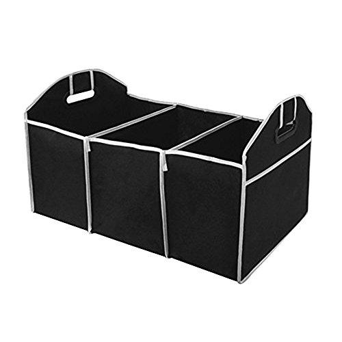 Preisvergleich Produktbild Alxcio Auto Kofferraumtasche,  Einkaufstasche Faltbar 4-Fach Kofferraumtaschen,  groß (50 x 32.5 x 32.5 cm) für Auto,  SUV,  Minivan und LKW