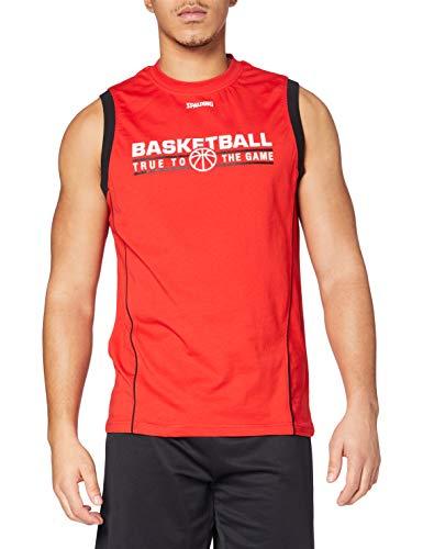 Spalding Team Tank Top Camiseta De Entrenamiento, Hombre, Rojo/Negro, XL ✅