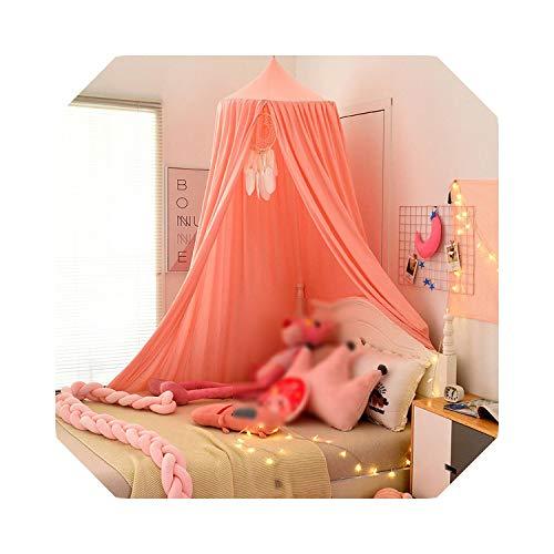 Binnen Buiten Decoratief   Opknoping kinderen beddengoed Dome Bed luifel klamboe sprei gordijn thuis Bed Decor Roze Indoor prinses Tent speelhuis-b-