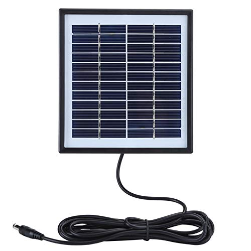 Banco de energía solar, módulo de panel solar con cargador solar de polisilicio de 2 W y 12 V para acampar al aire libre para pequeños electrodomésticos