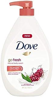 Dove Go Fresh Body Wash Pump, Pomegranate and Lemon Verbena 34 Fl Oz / 1L Ea