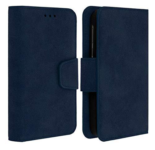 """Folio Housse Pochette Etui Universelle avec Coque incassable Compatible pour KLIPAD V356 / V356B / V3556 (5"""" Pouces ecran18:9) (Folio Bleu)"""