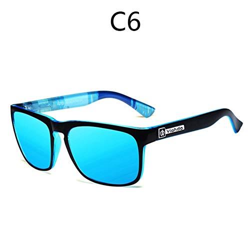 WEN Nachtsichtbrille Viahda 2019 Sonnenbrille Der Männer Polarisierte Nachtsicht Treibende Gläser Kühle Schwarze Sonnenbrille Tourismus (Lenses Color : C6)