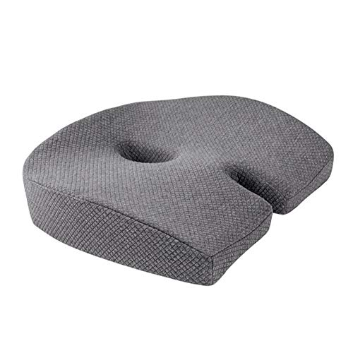 MRCOCO Coccyx Cushion, Memory Foam Seat Cushion Pillow Pressure Relief, Chair Support Cushions Pads for Office Chair/Wheelchair/Car Seat Black,Gray,gel pad
