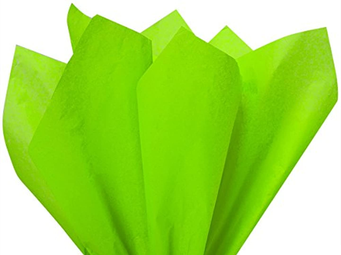 Bright Lime Tissue Paper 15 x 20 100 Sheets Premium Quality Tissue Paper by A1 bakery supplies