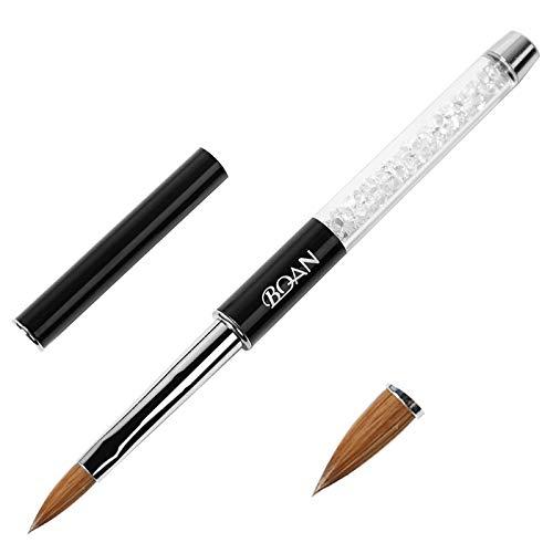 BQAN 1Pc Acrylic Nail Art Brush Kolinsky Sable Hair Nail Tools 8#