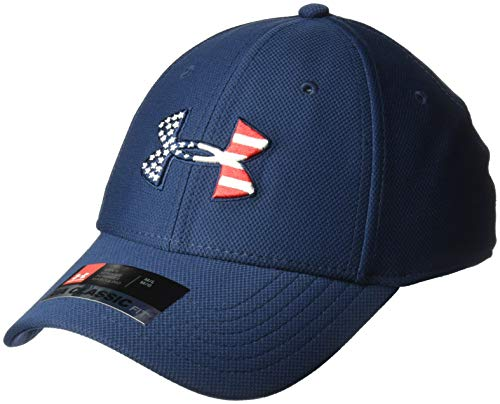 Under Armour Men's Freedom Blitzing Cap , Academy Blue (408)/Red , Large/X-Large