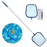 Red de Limpieza de Piscinas, Aiglam Recogehojas para Piscinas Skimmer Piscina Limpiafondos Piscina con 1.2M 5-Sección Polo de Aluminio para la Limpieza de Piscinas