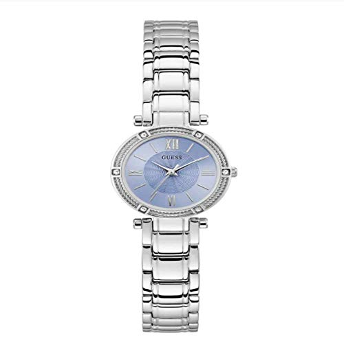 GUESS Women's Analog Watch with Stainless Steel Strap, Silver, 12 (Model: U1134L5)