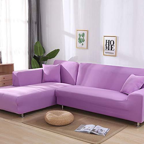 WXQY Sala de Estar sofá elástico en Forma de L Cubierta de protección de Esquina Color Antideslizante sofá a Prueba de Polvo Cubierta de protección para Mascotas combinación A14 3 plazas