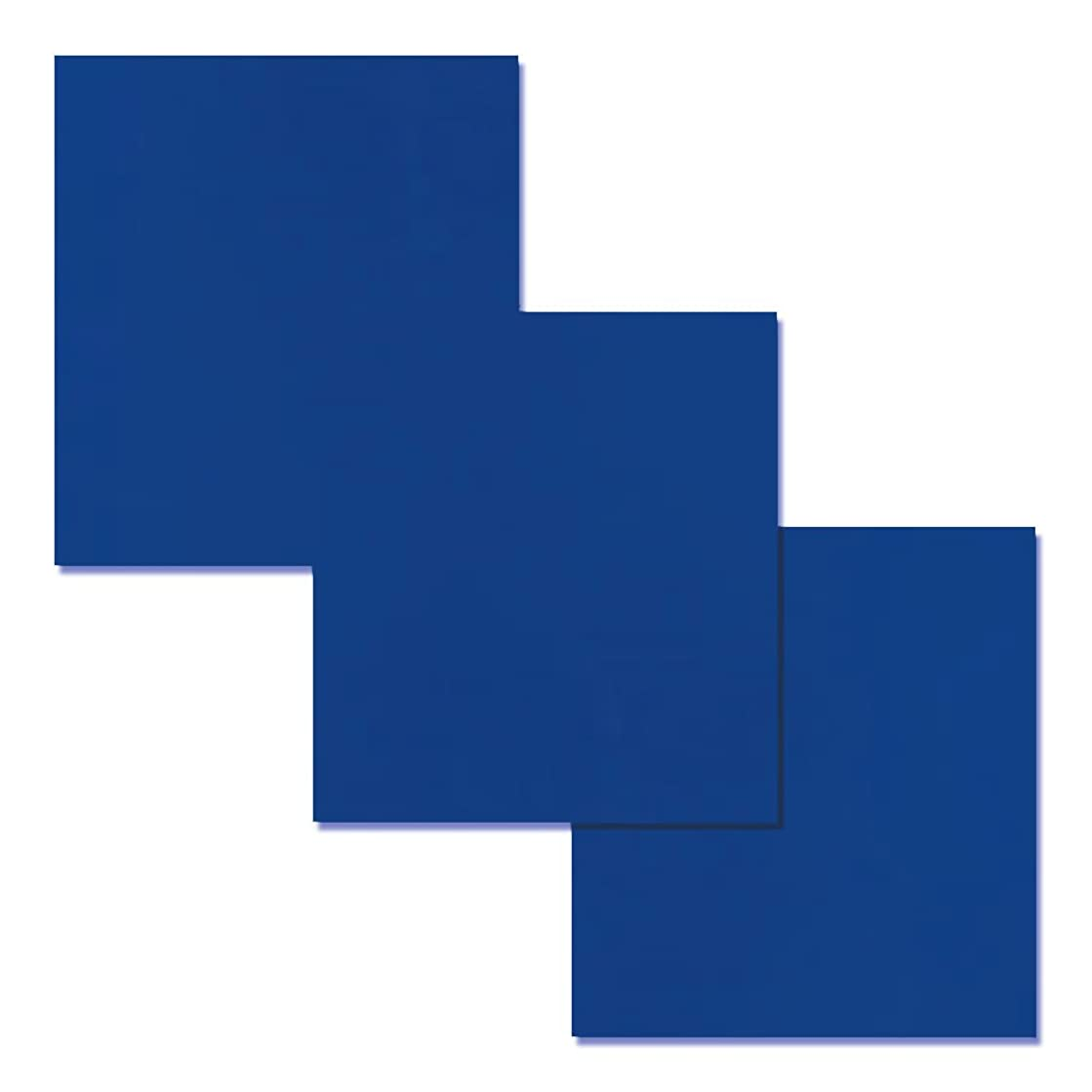 HTV Vinyl Blue Heat Transfer Iron on Sheets for T-Shirt,Bags,Hats, Flat Packing, 12x15 Inches, 3 Pack