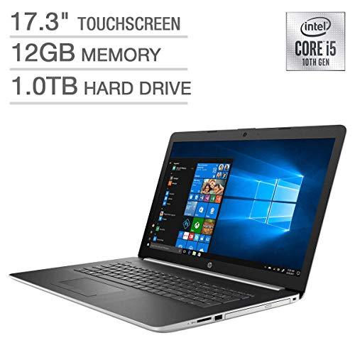 "HP 17.3"" HD+ SVA BrightView WLED-Backlit Touchscreen Laptop, 10th Gen Intel Quad-Core i5-10210U up to 4.2GHz, 12GB DDR4, 1TB HDD, Backlit Keyboard, Wireless-AC, Bluetooth, Webcam, HDMI, Windows 10"