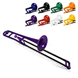 pBone Plastic Trombone with Mouthpiece and Bag - Purple