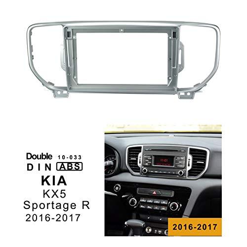 LEXXSON - Mascherina di montaggio per autoradio a doppio din, per autoradio da 9 pollici, per KIA KX5 SPORTAGE R 2016-2017