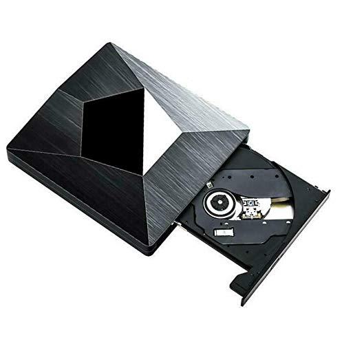 Ashey Reproductor de CD/DVD ROM, Grabador de grabadora de DVD Externo USB 3.0 / Tipo C, Grabador DVD RW Unidad óptica, para Mac OS Windows XP / 7/8/10 PC portátil