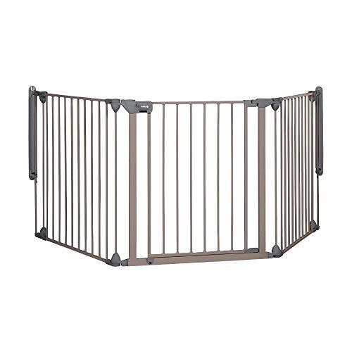 Safety 1st Modular Cancelletto Sicurezza Bambini, Scale, Cani, Camino, Composto da 3 Moduli, per Aperture 40 cm - 214 cm, Grigio