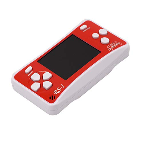 E-WOR Videogiochi Portatili Portatili 2.5 'LCD Retro Video Gaming 162 Giochi Built-in Play on TV Miglior Regalo per Bambini su Birthday Christmas (Red)