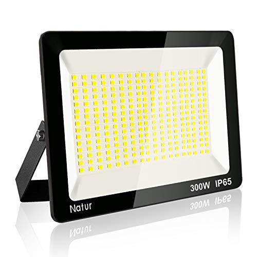 300W LED Strahler, Superhell Fluter,IP65 wasserdicht Industriestrahler, 6000K Flutlicht-Strahler,Außen-Leuchte Flutlicht-Strahler (1er, 300W)