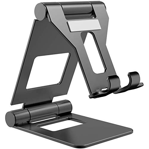 Yzbtj Portable Tablet Stand, Ipad Stand: Adjustable Alloyed Aluminum Tablet Holder Compatible with Ipad, Surface, Kindle, and Other 4-13 Inch Devices,Black