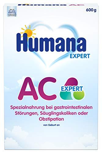 Humana AC Expert, Spezialnahrung bei gastrointestinalen Störungen, Säuglingskoliken oder Obstipation, 600 g