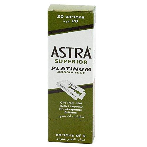 Astra Superior Platinum Doppelseitige Rasierklingen, 100 Stück, 10ml Gummy-Shampoo