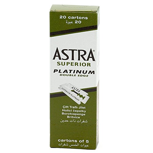 SUPERIOR ASTRA PLATINUM DOUBLE EDGE RAZOR & DI SICUREZZA