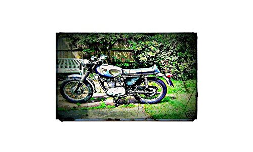 1969 starfire b25s Fiets Motorfiets A4 Foto Print Retro Verouderde Vintage