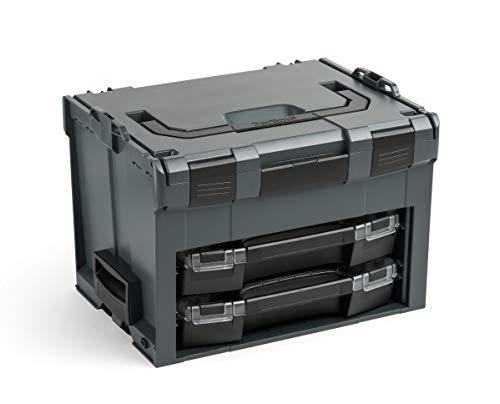 Bosch Sortimo Werkzeugkoffer-Set LS-Boxx 306 anthrazit bestückt mit i-Boxx 72 H3 und i-Boxx 72 I3