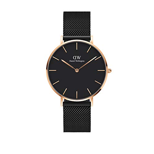 Daniel Wellington Petite Ashfield Rose Gold or Silver Watch, 36mm, Mesh, for Men and Women