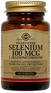 Yeast-Free Selenium, 100 mcg, 100 Tabs by Solgar (Pack of 4)