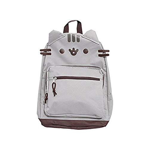 Pusheen Grey Character Face Backpack with Adjustable Straps
