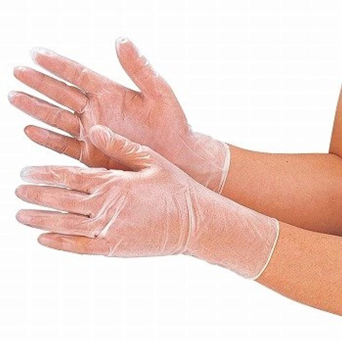 パウダー戦闘不快おたふく手袋/抗菌プラスチックディスポ手袋 100枚入×12セット[総数1200枚]/品番:250 サイズ:M