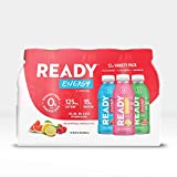 Ready Energy + Focus, 125mg Natural Caffeine, Vitamin B, 15g Whey Protein Isolate, 0 Sugar, No Artificial Ingredients, Pre-Workout for Energy + Focus, Variety Pack (16.9 fl oz Bottle, Pack of 12)