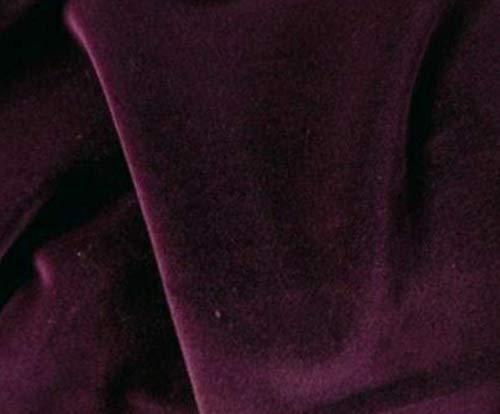 Fabric 56-58' W Drapery Clothing Upholstery Velveteen Velvet 100% Cotton by The Yard C | #AA47RK (Dark Burgundy)