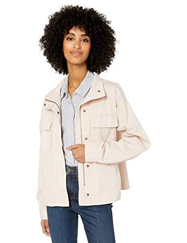 Amazon Brand - Goodthreads Women's Cropped Oversized Utility Jacket, Washed Vintage Pink , Large
