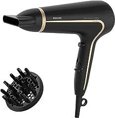 Philips ThermoProtect Ionic HP8232/20 secador Negro 2200 W - Secador de pelo (Negro, ABS sintéticos, Con agujero en la empuñadura para colgar, 1,8 m, 2200 W, 220-240 V)