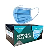 halidodo mascherine 50pcs, maschera monouso con orecchio maschere traspiranti e confortevoli 3 strati