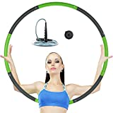 sigando Hula Hoop desmontable adecuado para fitness, entrenamiento y ejercicios abdominales.