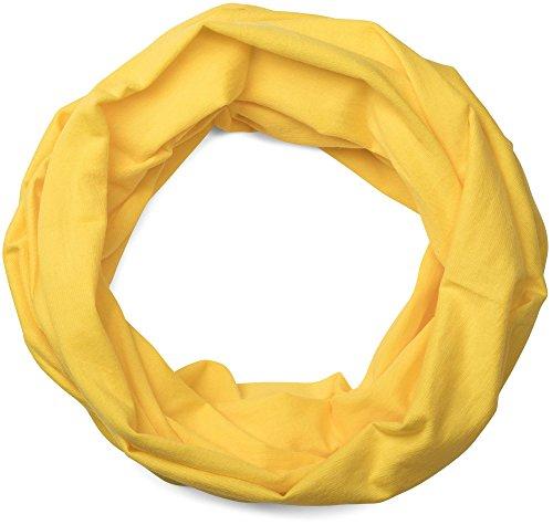styleBREAKER Jersey Multifunktionstuch, Schlauchtuch, Stirnband, Haarband, Kopftuch, Loop Schlauchschal, Unisex 01012037, Farbe:Gelb