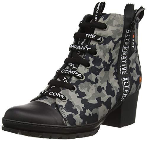 Art Candem, Chaussure Bateau Femme, Camouflage Noir, 41 EU