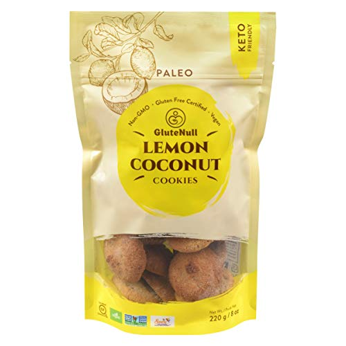 GluteNull Lemon Coconut Cookies - Keto, Gluten Free, Vegan, Paleo