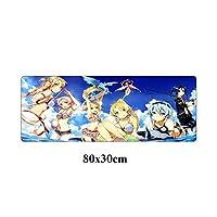 マウスパッドアニメアートオンライン大型マウスパッドスーパー80x30cmラバーロックエッジスピードゲーマーゲーミングマウスパッド滑り止めのタブレットノートPCデスクマット (Color : Yellow)