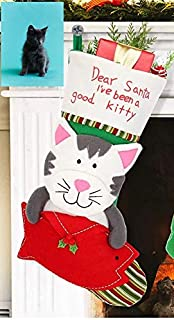 CAT CHRISTMAS STOCKING FILLED WITH CHRISTMAS TOYS - CHRISTMAS GIFTS FOR CATS - SUPPORTS CATS IN NONPROFIT RESCUE - CHRISTMAS GIFT SETS STUFFERS IN XMAS STOCKINGS FOR CATS - CAT TOYS FOR CHRISTMAS