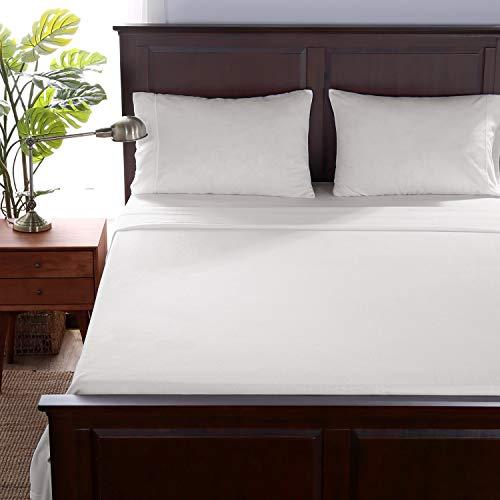 "Berkshire Blanket Microfleece Sheet Set   Super Soft Cozy Fleece Sheets   All-Season Warmth   True White   King (100"" x 108"")"