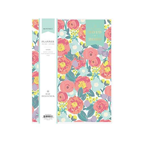 Day Designer for Blue Sky 2019-2020 Academic Year Monthly Planner, Flexible Cover, Stapled Binding, 8.5