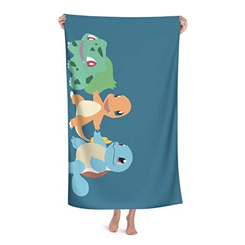 Toalla de baño de anime Squirtle, súper absorbente, suave, cómoda, de secado rápido, tela de microfibra superabsorbente, para ducha, spa, sauna, playa, gimnasio, albornoz (31 x 51 pulgadas)