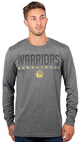 Ultra Game Herren NBA Memphis Grizzlies T-Shirt Athletic Quick Dry Long Sleeve Tee Shirt, Golden State Warriors, Charcoal Heather, XL
