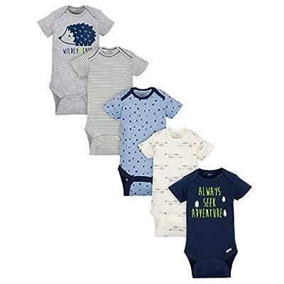 Gerber Baby Boys' 5-Pack Variety Onesies Bodysuits, Hedgehog, 0-3 Months by GERLO