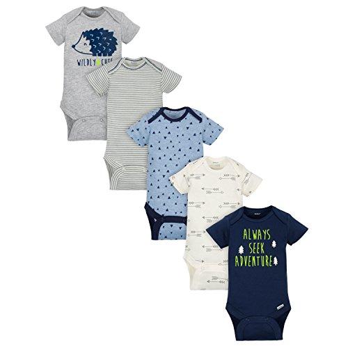 Gerber Baby Boys' 5-Pack Variety Onesies Bodysuits, Hedgehog, 6-9 Months