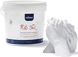 Niimo Kit 3D Calco Mani e Piedi con Alginato e Gesso per Stampi di Impronte Bambino Adulti e Famiglia Kit...